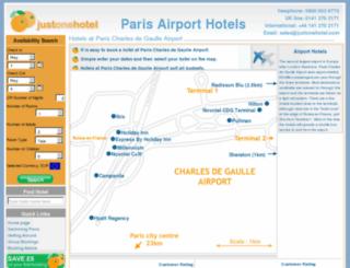 paris-airporthotels.com screenshot
