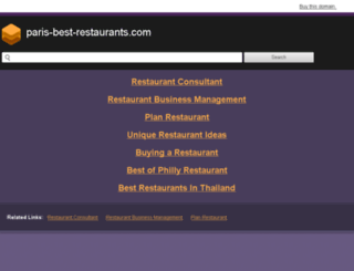 paris-best-restaurants.com screenshot