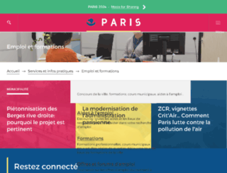 paris-emplois.paris.fr screenshot