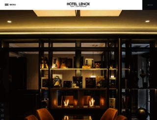 paris-hotel-lenox.com screenshot