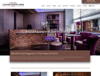 paris-hotel-louvre.com screenshot