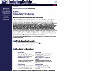 paris.lodgingguide.com screenshot