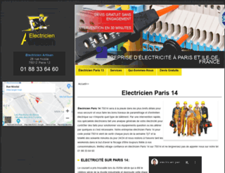 paris14.electriciendepannageelectrique.com screenshot