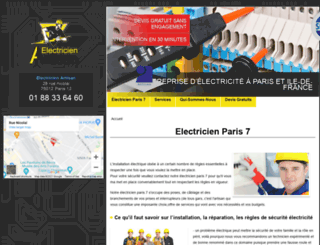 paris7.electriciendepannageelectrique.com screenshot