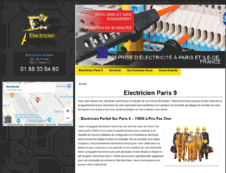 paris9.electriciendepannageelectrique.com screenshot