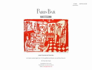 parisbar.de screenshot