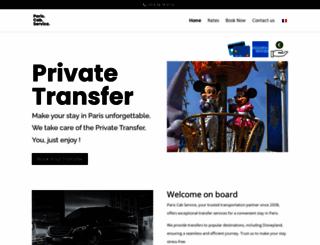 pariscab-service.com screenshot