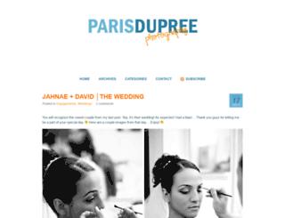 parisdupreeblog.com screenshot