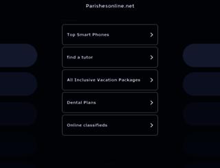 parishesonline.net screenshot