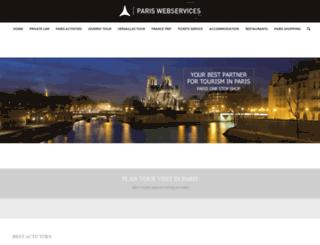 pariswebservices.com screenshot