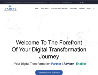 parity.co.za screenshot