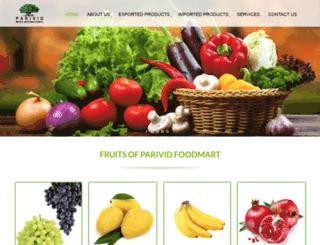 parividfoodmart.com screenshot