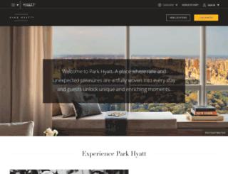 park.hyatt.com screenshot