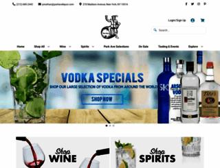 parkaveliquor.com screenshot