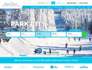 parkcityvacationrentals.com screenshot