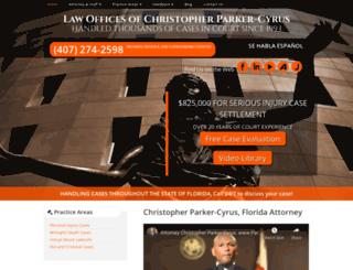 parkercyruslaw.com screenshot