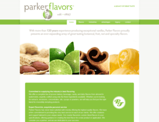 parkerflavors.com screenshot