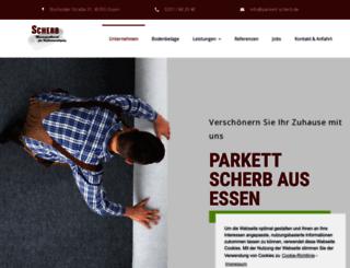 parkett-scherb.de screenshot