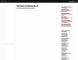 parkfactors.com screenshot