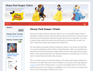 parkhopperticket.com screenshot