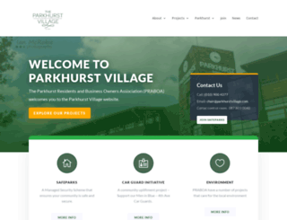 parkhurstvillage.com screenshot