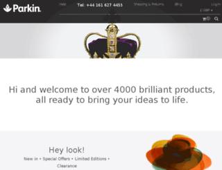 parkinfabrics.co.uk screenshot