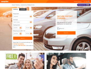 parking.easyjet.com screenshot