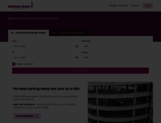 parking.edinburghairport.com screenshot