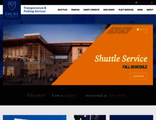parking.emory.edu screenshot