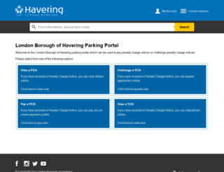 parking.havering.gov.uk screenshot
