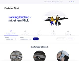 parking.zurich-airport.com screenshot