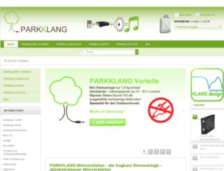 parkklang.de screenshot