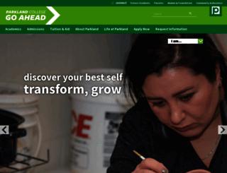 parkland.edu screenshot