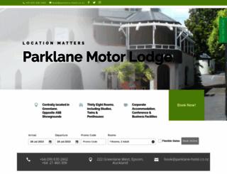 parklane-hotel.co.nz screenshot