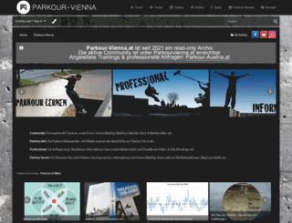 parkour-vienna.at screenshot