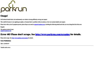 parkrun.dk screenshot