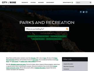 parks.cityofboise.org screenshot
