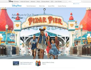 parks.disney.com screenshot