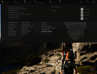 parks.tas.gov.au screenshot