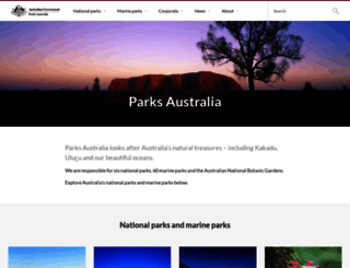 parksaustralia.gov.au screenshot