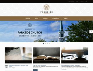 parksidechurch.com screenshot