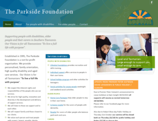 parksidefoundation.org.au screenshot