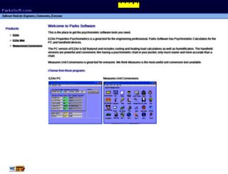parkssoft.com screenshot