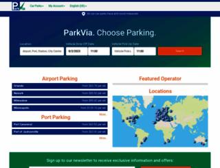 parkvia.com screenshot