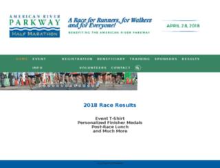 parkwayhalfmarathon.com screenshot