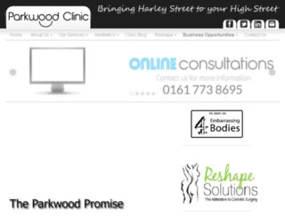 parkwoodclinic.co.uk screenshot