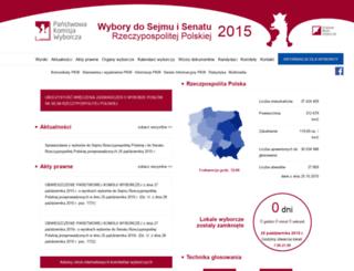 parlament2015.pkw.gov.pl screenshot