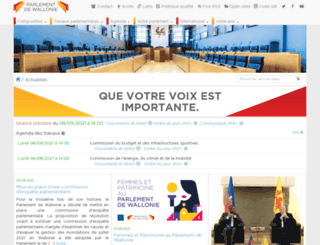 parlement.wallonie.be screenshot