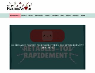 parlerdamour.fr screenshot