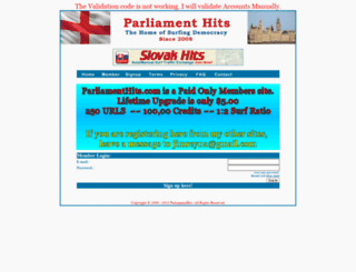 parliamenthits.com screenshot